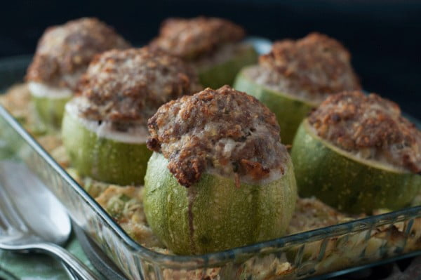 Stuffed Round Courgettes #italian #dinner #recipe
