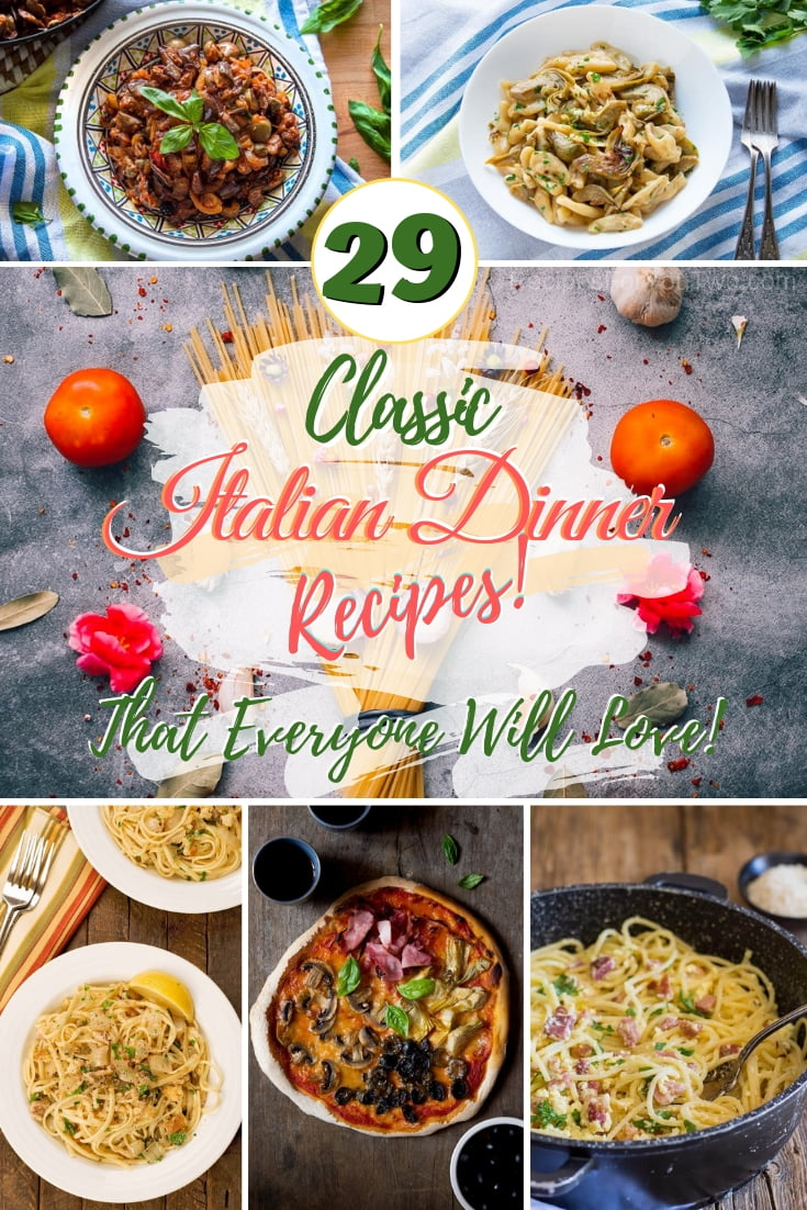 These classic Italian dinner recipes will easily become your family favorites and even kids will love them! #recipe #dinner #Italian