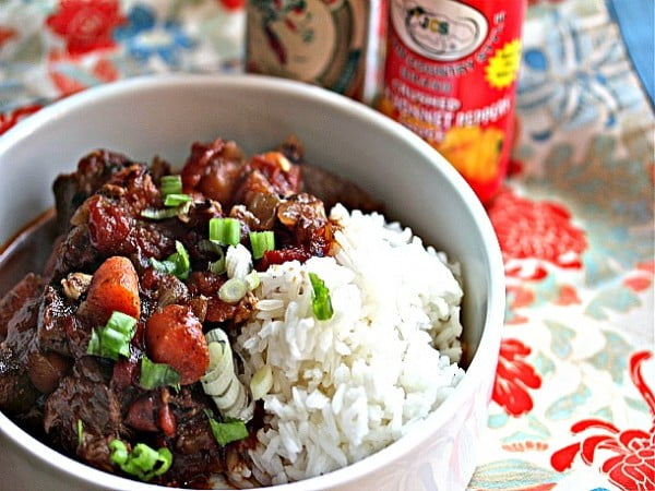 Jamaican Beef Stew With Rice Recipe #meatstew #meat #stew #dinner #recipe
