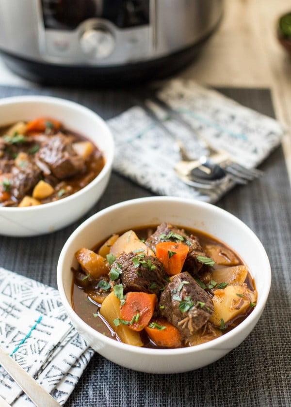 Pressure Cooker Guinness Beef Stew Recipe #meatstew #meat #stew #dinner #recipe