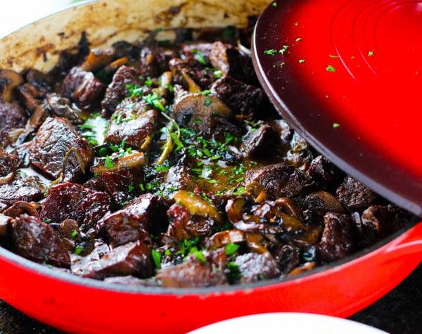 Wild Mushroom and Beef Stew #meatstew #meat #stew #dinner #recipe