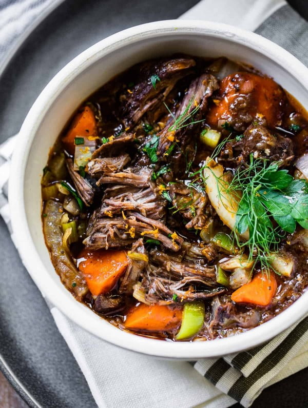 Slow-Cooked Red Wine Beef Stew #meatstew #meat #stew #dinner #recipe