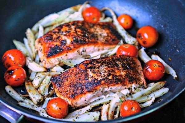 Mediterranean Salmon #mediterranean #dinner #recipe