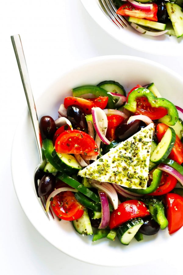 Authentic Greek Salad #mediterranean #dinner #recipe