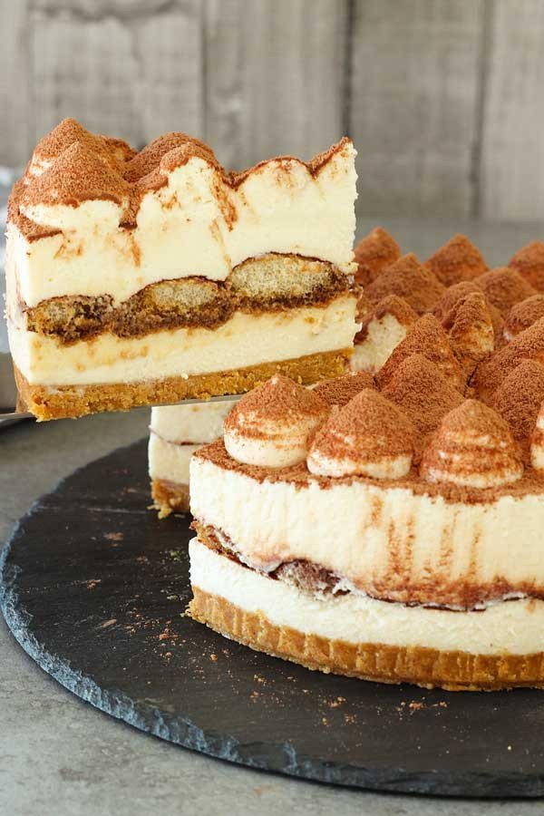 No-Bake Tiramisu Cheesecake #recipe #nobake #dessert #recipe