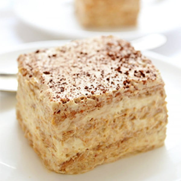 Cappuccino Icebox Cake #recipe #nobake #dessert #recipe