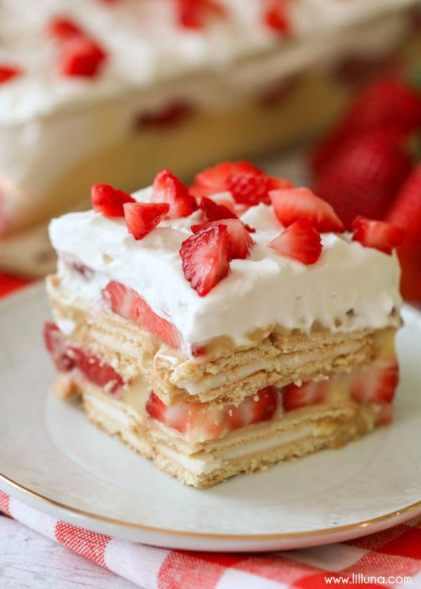 No Bake Strawberry Shortcake #recipe #nobake #dessert #recipe