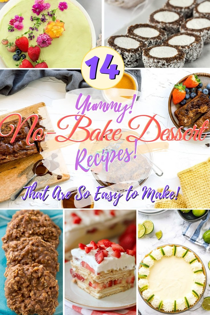 Make super easy and just as delicious no-bake recipes! #nobake #recipe #dessert