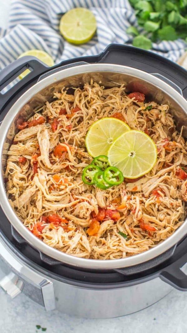 Instant Pot Salsa Chicken #recipe #chicken #quick #easy #dinner