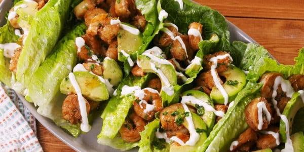 Cilantro-Lime Shrimp Wraps Are Low-Carb Gold #shrimp #recipe #dinner #lunch #snack