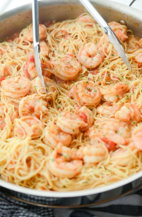 Cajun Shrimp & Pasta #shrimp #recipe #dinner #lunch #snack