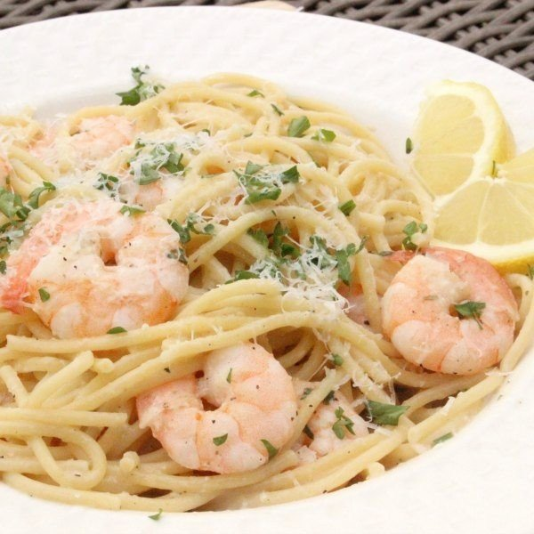 Lemon Garlic Shrimp Scampi Recipe #shrimp #recipe #dinner #lunch #snack