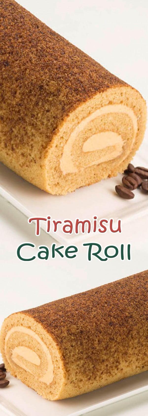 Tiramisu Cake Roll #tiramisu #recipe #dessert