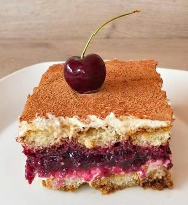Cherry Tiramisu #tiramisu #recipe #dessert