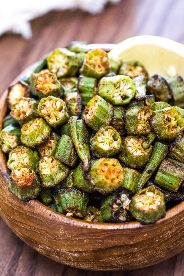 Easy Baked Okra #vegetables #side #dinner #recipe