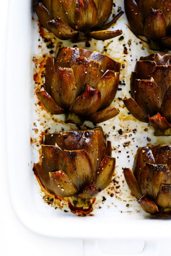 The Most Amazing Roasted Artichokes #vegetables #side #dinner #recipe