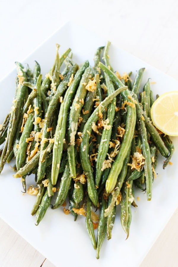 Roasted Parmesan Green Bean Recipe #vegetables #side #dinner #recipe
