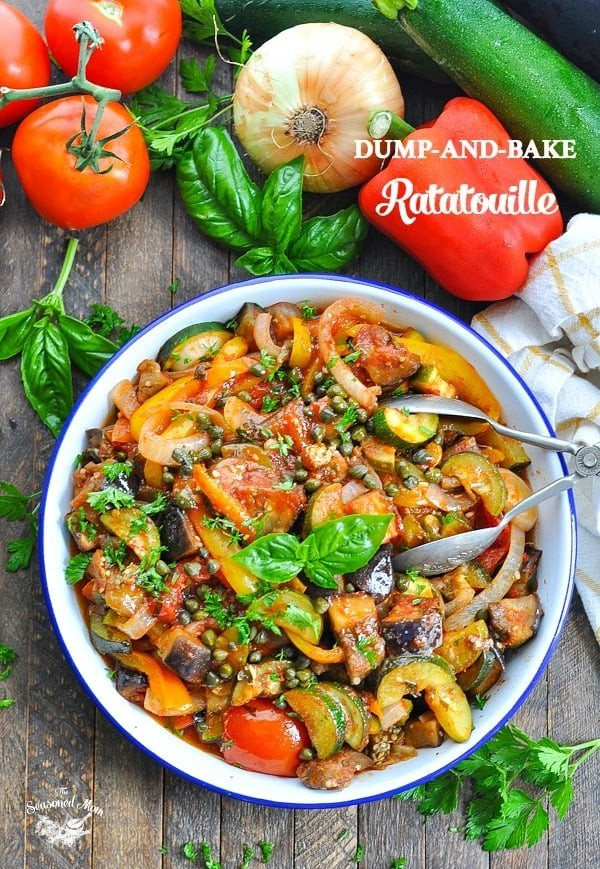 Dump-and-Bake Ratatouille #vegetables #side #dinner #recipe