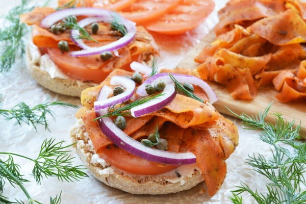 Vegan Carrot Lox #vegetarian #healthy #breakfast #recipe