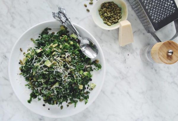 kale avocado salad #vegetarian #salad #recipe #healthy
