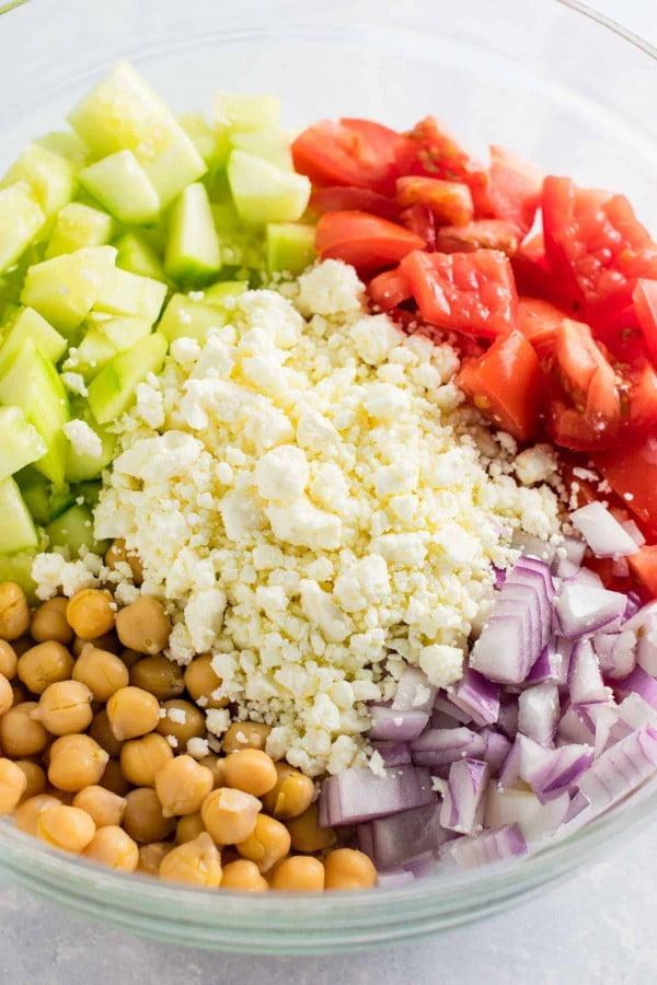 Greek Cucumber Salad #vegetarian #salad #recipe #healthy