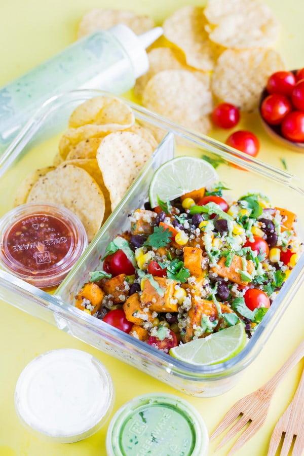 Black Bean Quinoa Salad #vegetarian #salad #recipe #healthy