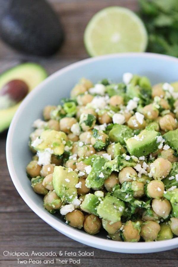 Chickpea, Avocado, Feta Salad #vegetarian #salad #recipe #healthy