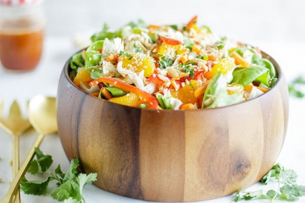 Addictive Asian Cabbage Salad Recipe #vegetarian #salad #recipe #healthy