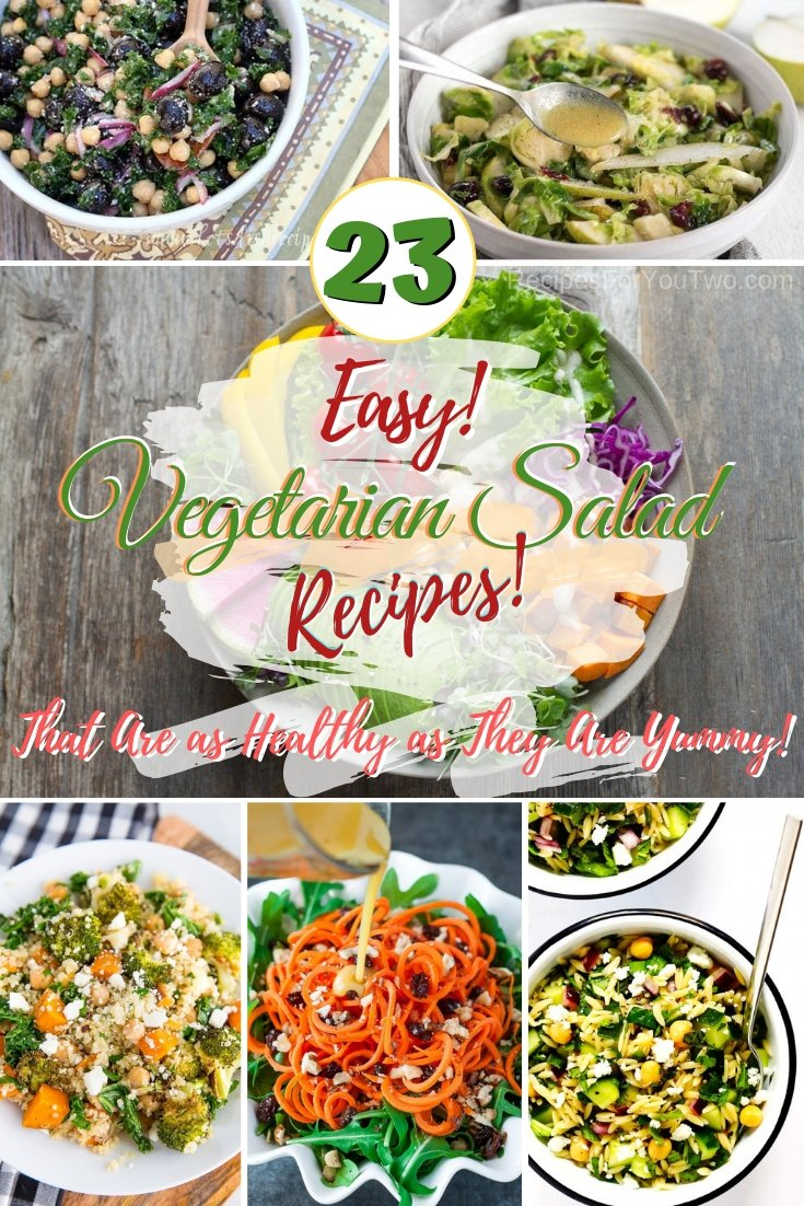 Refresh your salad rotation with these yummy vegetarian salad recipes! #vegetarian #recipe #healthy #salad #dinner