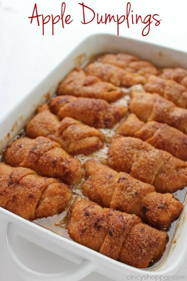 Apple Dumplings #apple #recipe #dessert #snack