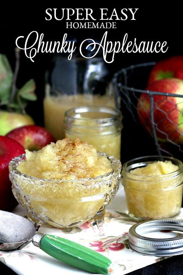 Homemade Chunky Applesauce #apple #recipe #dessert #snack