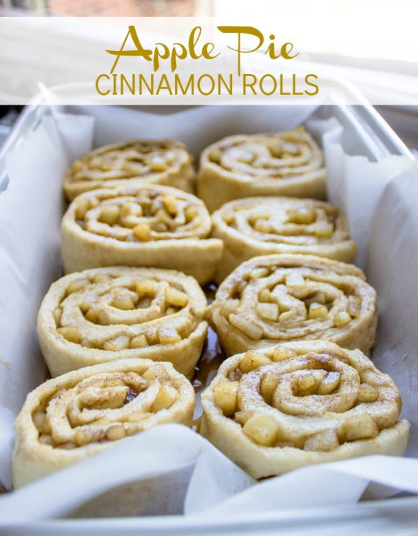 Apple Pie Cinnamon Rolls with Cream Cheese Icing #apple #recipe #dessert #snack