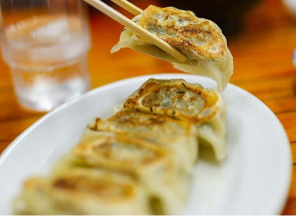 Homemade Chicken and Lemongrass Potsticker Dumplings #dumplings #dinner #recipe