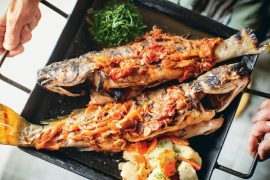 Grilled Whole Fish with Tomato-Fennel Sauce 