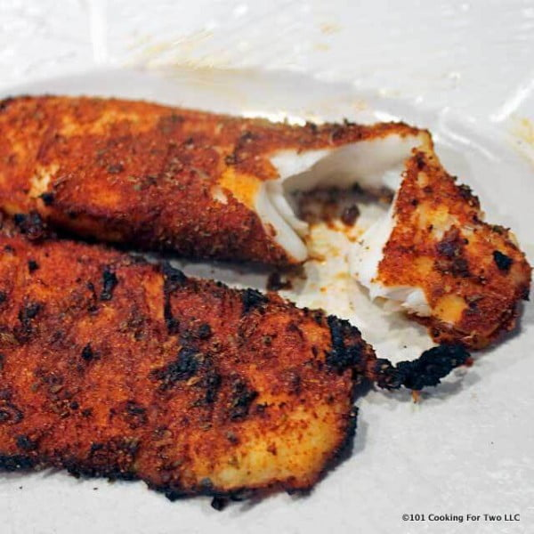 Grilled Blackened Tilapia from 101 Cooking For Two #grilled #fish #grill #dinner #recipe