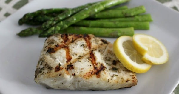 Grilled Halibut with Lemon-Herb Butter' #grilled #fish #grill #dinner #recipe
