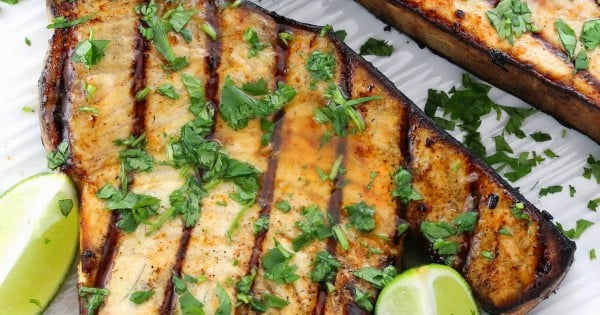 Cilantro-Lime Grilled Swordfish Recipe #grilled #fish #grill #dinner #recipe