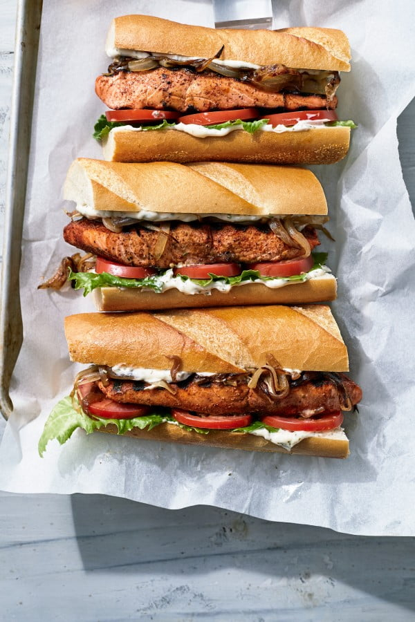 Market Grill Fish Sandwiches #grilled #fish #grill #dinner #recipe
