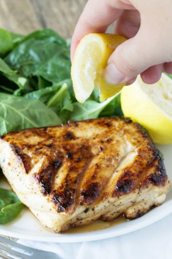 Grilled Halibut #grilled #fish #grill #dinner #recipe