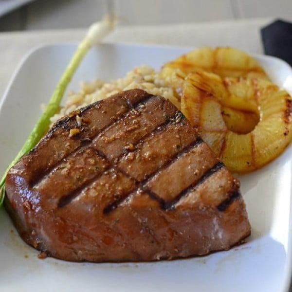 Grilled Teriyaki Tuna Steaks #grilled #fish #grill #dinner #recipe