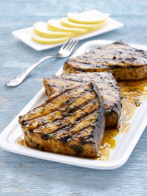Grilled Swordfish Steak Recipe #grilled #fish #grill #dinner #recipe