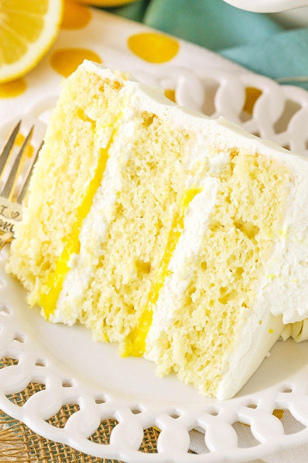 Lemon Mascarpone Layer Cake #lemon #dessert #recipe