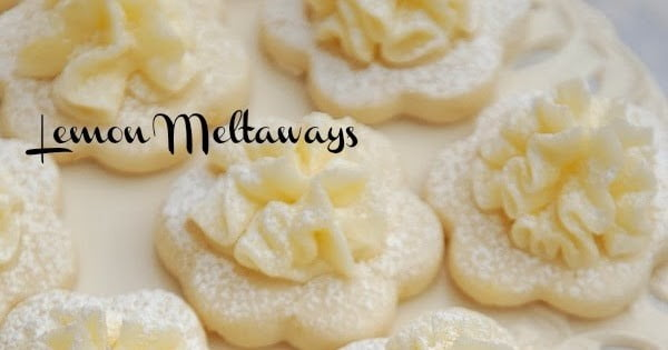 Frilly Lemon Meltaway Cookies' #lemon #dessert #recipe