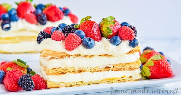 Lemon Berry Napoleon #lemon #dessert #recipe