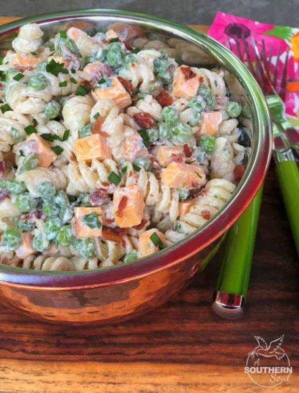 Bacon Ranch Pasta Salad #pasta #salad #recipe #lunch #dinner