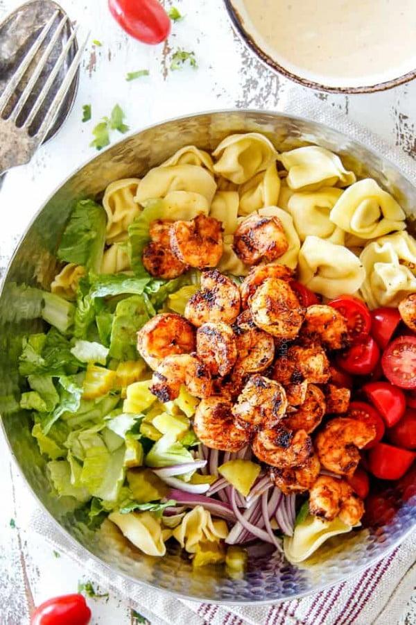 Po' Boy Shrimp Pasta Salad #pasta #salad #recipe #lunch #dinner