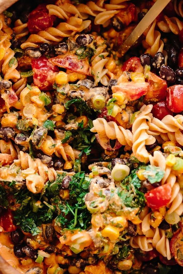 Southwest Vegan Pasta Salad #pasta #salad #recipe #lunch #dinner
