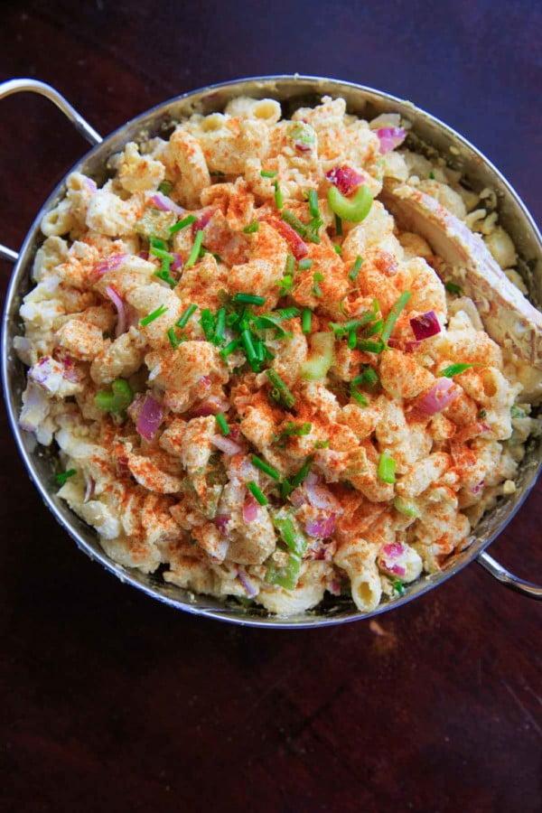 Deviled Egg Macaroni Pasta Salad #pasta #salad #recipe #lunch #dinner