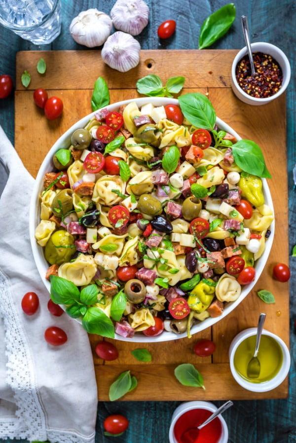 Antipasto Tortellini Pasta Salad #pasta #salad #recipe #lunch #dinner