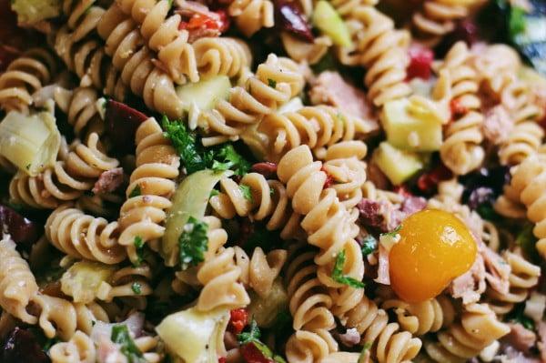 Mediterranean Tuna Pasta Salad #pasta #salad #recipe #lunch #dinner